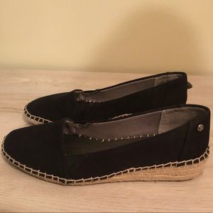 NWOT Life Stride Black Canvas Espadrille